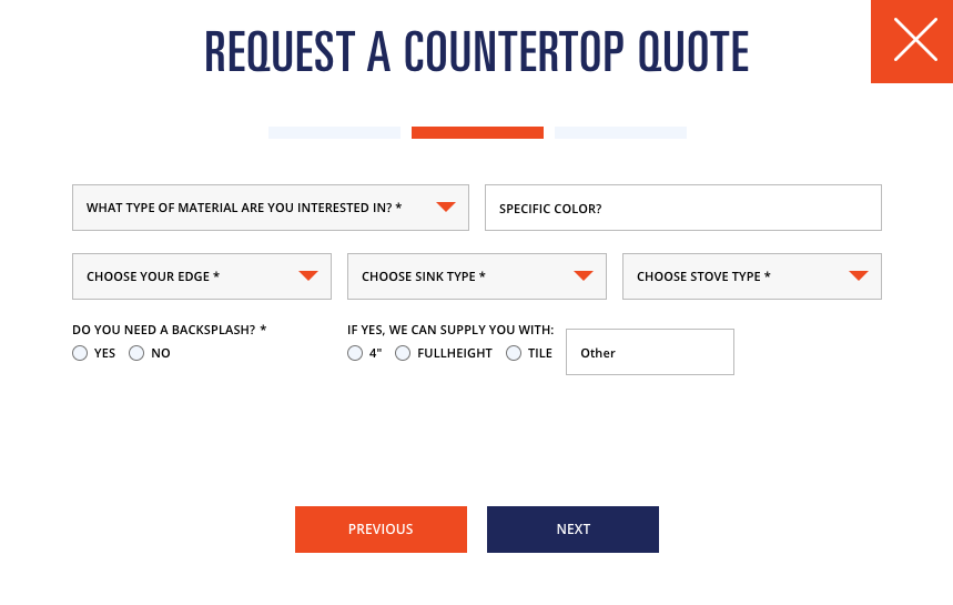request a countertop quote
