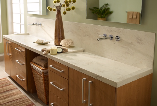 residential bathroom solid surface